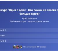 """Голосуем!  Онлайн конкурс """"Один в один"""" 17/10/2021"""